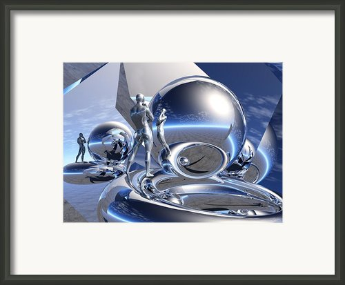 Bending The Mind Of The Mirror Framed Print By Jon D Gemma