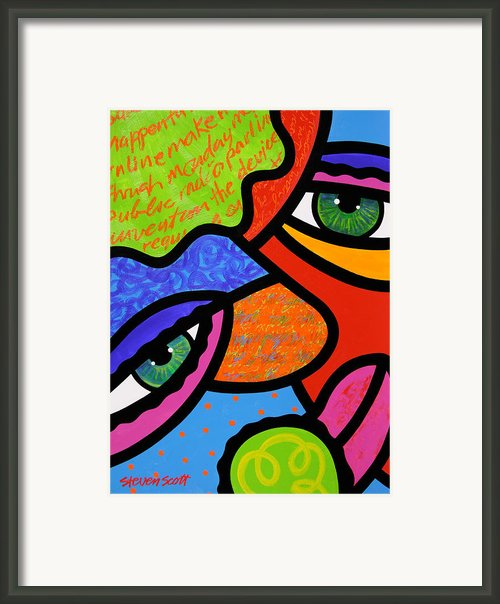 Beneath The Green Hat Framed Print By Steven Scott