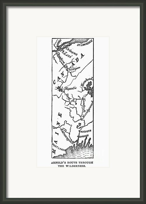 Benedict Arnold: Map, 1775 Framed Print By Granger