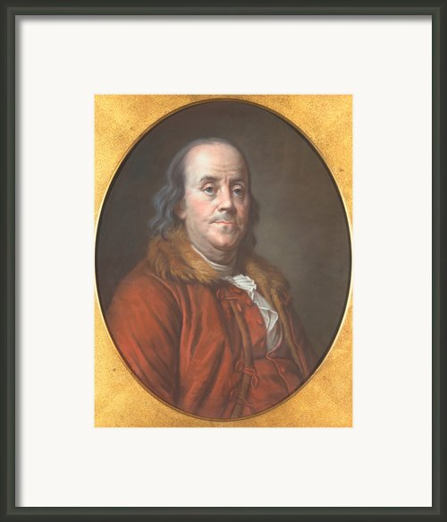 Benjamin Franklin Framed Print By Jean Valade
