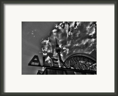 Berlin Alexanderplatz Framed Print By Juergen Weiss