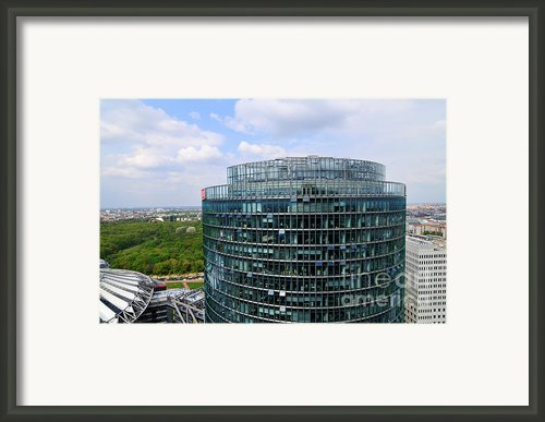 Berlin Bahn Tower Potsdamer Platz Square Framed Print By Matthias Hauser