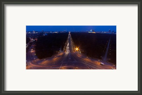 Berlin From The Siegessaule  Framed Print By Mike Reid
