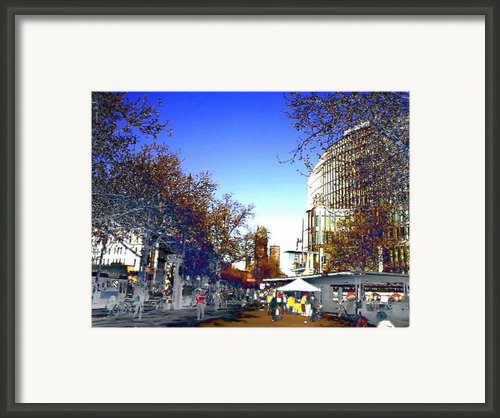 Berlin Kurfuerstendamm Framed Print By Navo Art