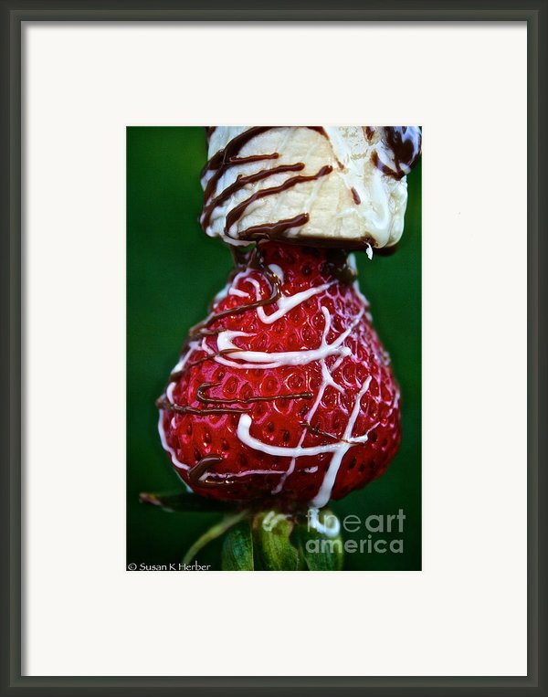 Berry Banana Kabob Framed Print By Susan Herber