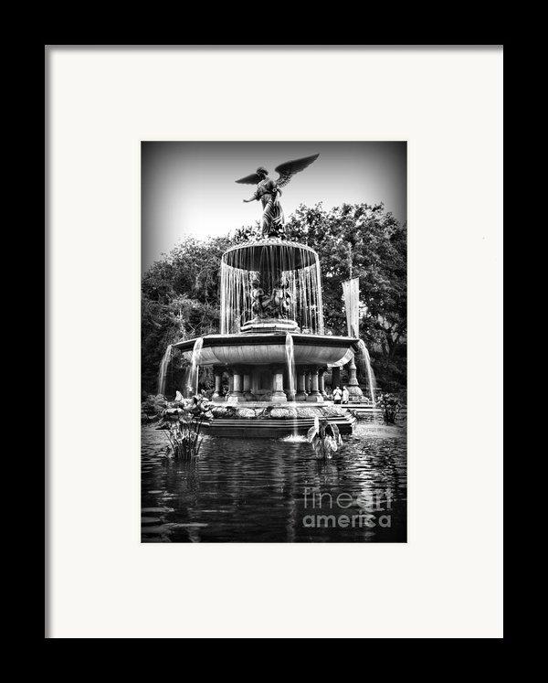 Bethesda Fountain Framed Print By Paul Ward
