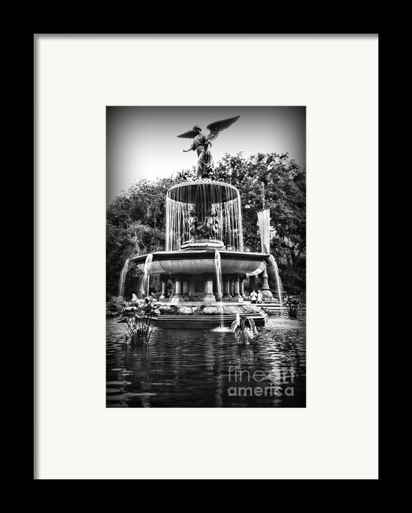 Bethesda Fountain Framed Print By Paul Ward