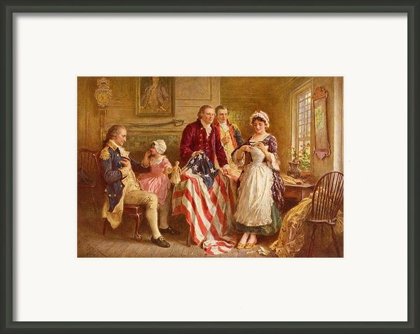 Betsy Ross 1777 Framed Print By Jean Leon Gerome Ferris