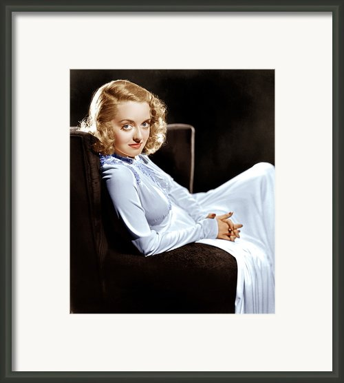 Bette Davis, Ca. Late 1930s Framed Print By Everett