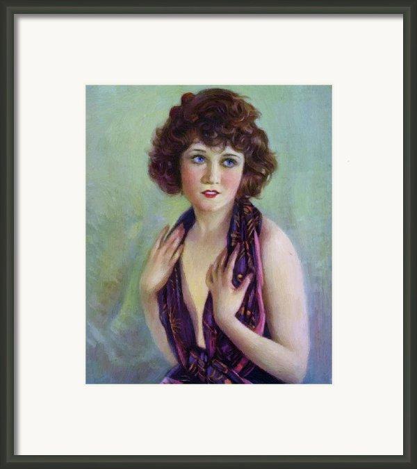 Betty Compson 1920 Framed Print By Stefan Kuhn