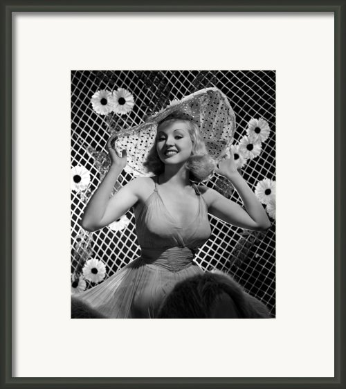 Betty Grable, 1938 Framed Print By Everett