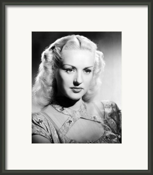 Betty Grable, 1947 Framed Print By Everett