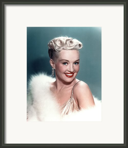 Betty Grable Framed Print By Everett
