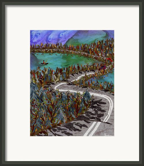 Between Lakes Framed Print By Marina Gershman