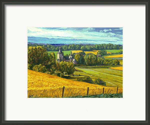 Beusdael Castle Sippenaeken Framed Print By Nop Briex