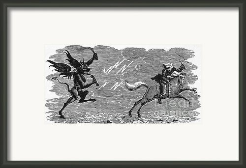 Bewick: Devil Framed Print By Granger