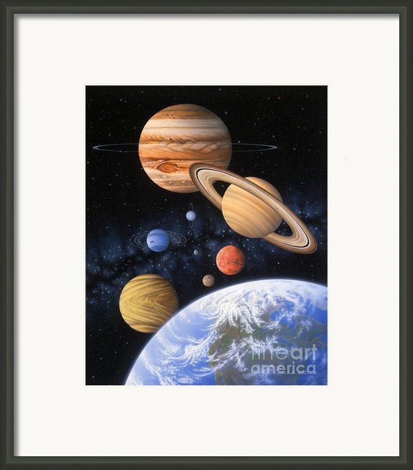 Beyond The Home Planet Framed Print By Lynette Cook