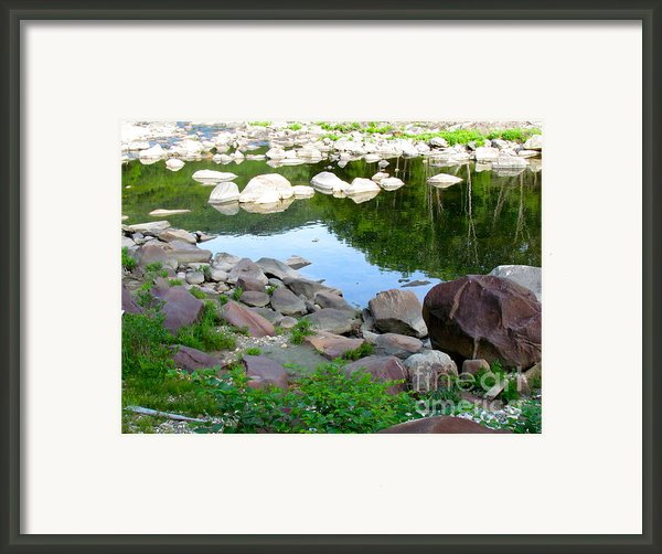 Beyond The Potholes Framed Print By Randi Shenkman