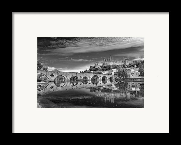 Beziers Cathedral Framed Print By Photograph By Paul Atkinson
