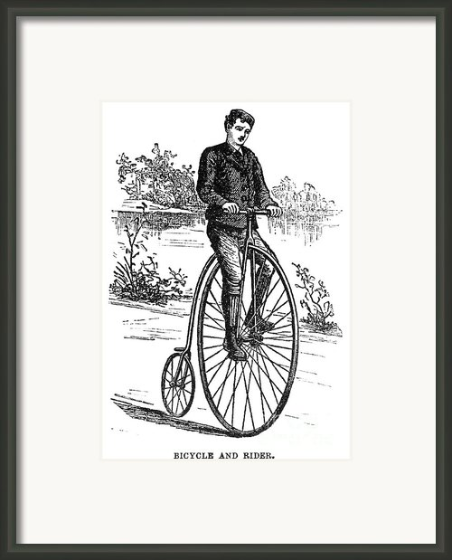 Bicycle, C1870s Framed Print By Granger
