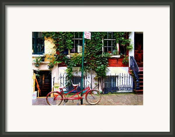 Bicycle Parking Sketch Framed Print By Randy Aveille