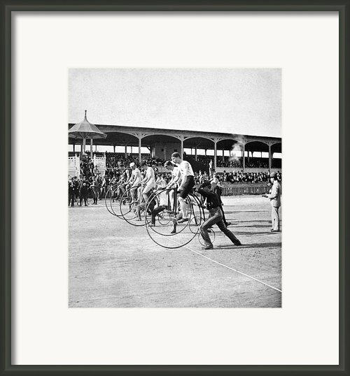 Bicycle Race, 1890 Framed Print By Granger