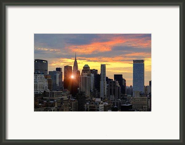 Big Apple Brilliance Framed Print By Janet Fikar