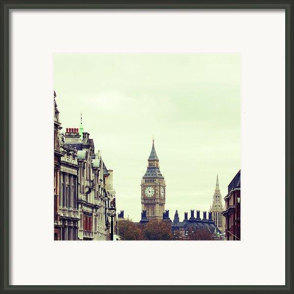 Big Ben As Seen From Trafalgar Square, London Framed Print By Image - Natasha Maiolo