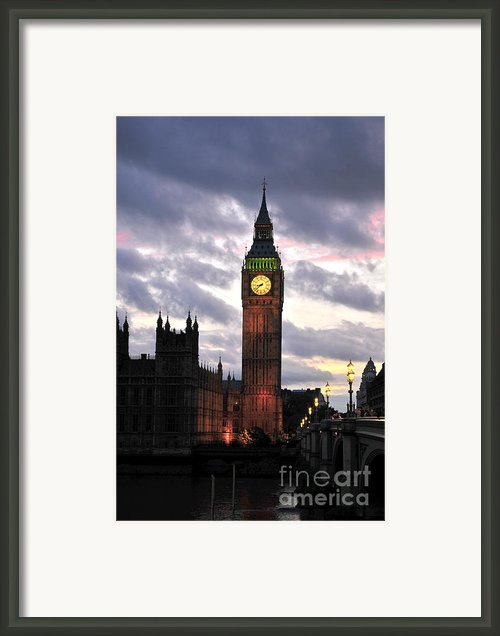 Big Ben Sunset Framed Print By Jim Chamberlain