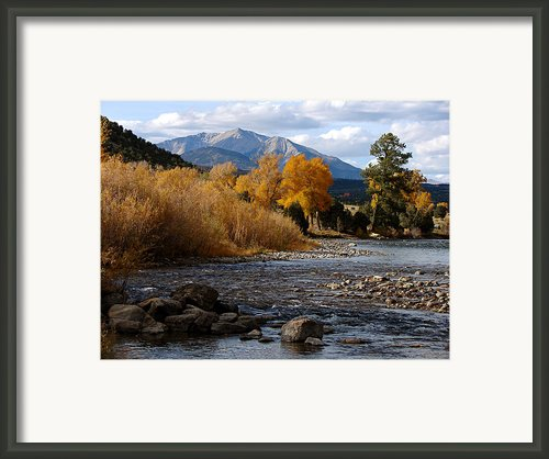Big Bend Of The Arkansas Framed Print By Diana Douglass