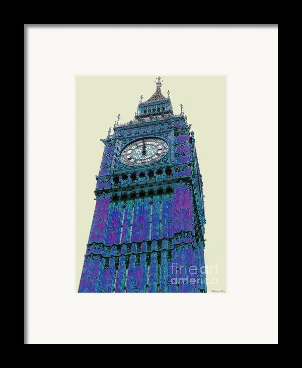 Big Blue Ben Framed Print By Beth Saffer