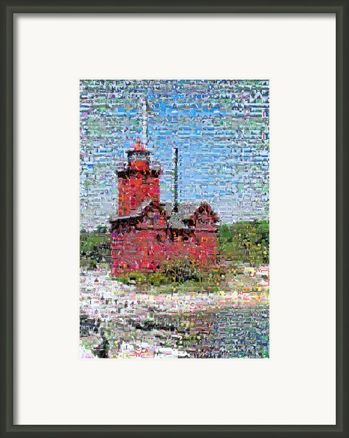 Big Red Photomosaic Framed Print By Michelle Calkins