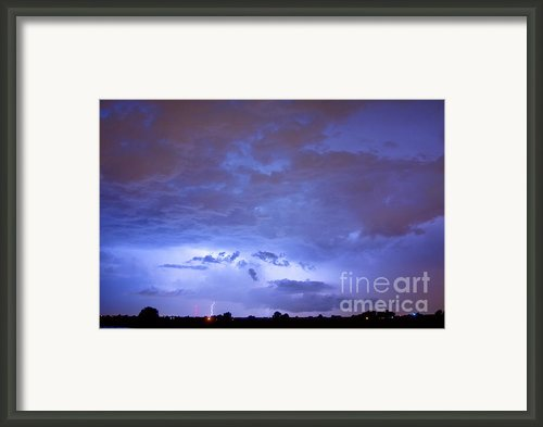 Big Sky With Small Lightning Strikes In The Distance. Framed Print By James Bo Insogna