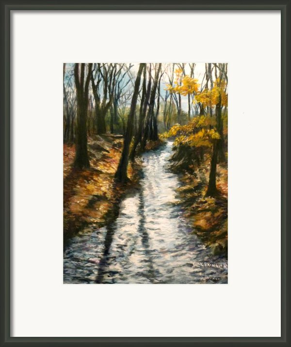 Bike Path Brook Framed Print By Jack Skinner