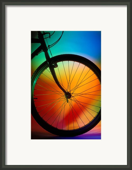 Bike Silhouette Framed Print By Garry Gay