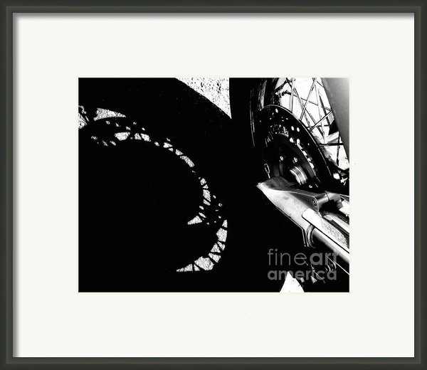 Bikers View Framed Print By Steven Milner