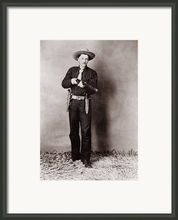 Bill Bennett, Wild West Detective Framed Print By Everett