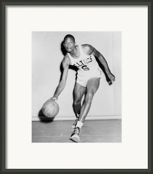 Bill Russell In His Boston Celtics Framed Print By Everett
