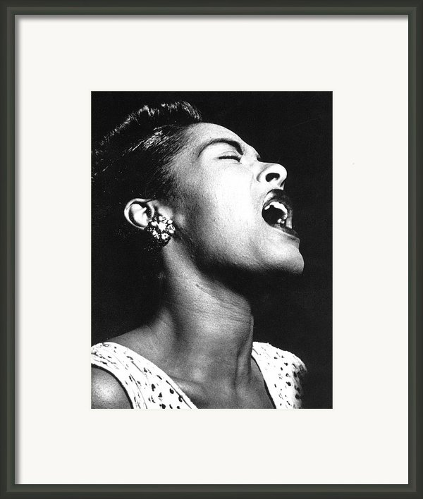 Billie Holiday (1915-1959) Framed Print By Granger