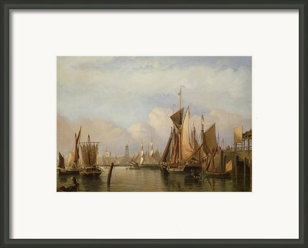 Billingsgate Wharf Framed Print By John Wilson Carmichael