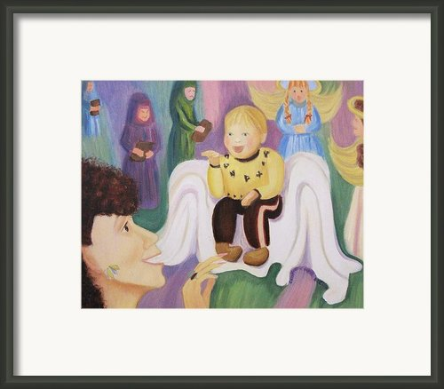 Billy As Baby Jesus Framed Print By Suzanne  Marie Leclair
