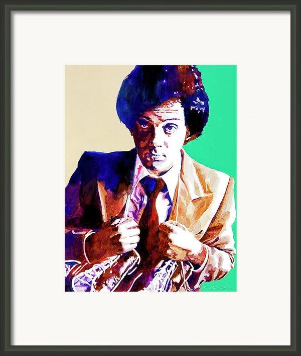 Billy Joel - New York State Of Mind Framed Print By David Lloyd Glover