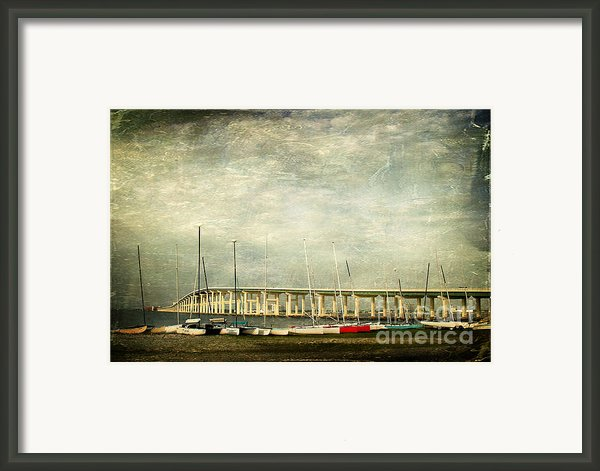 Biloxi Bay Bridge Framed Print By Joan Mccool