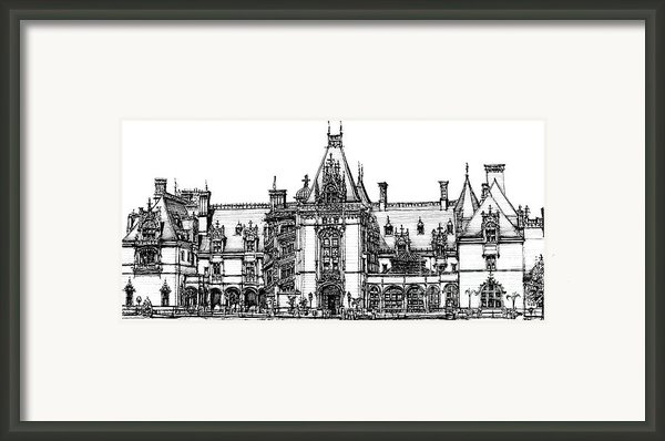 Biltmore House In Asheville  Framed Print By Lee-ann Adendorff