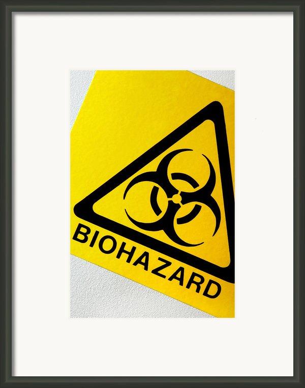 Biohazard Symbol Framed Print By Tim Vernon, Nhs Trust