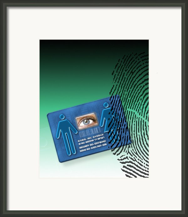 Biometric Id Card Framed Print By Victor Habbick Visions