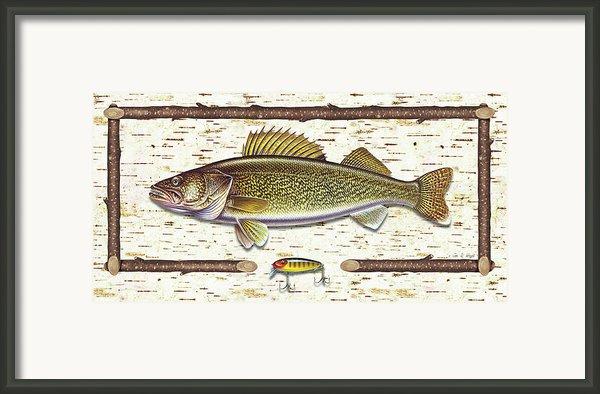 Birch Walleye Framed Print By Jq Licensing