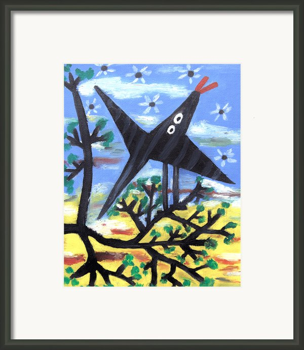 Bird On A Tree After Picasso Framed Print By Alexandra Jordankova