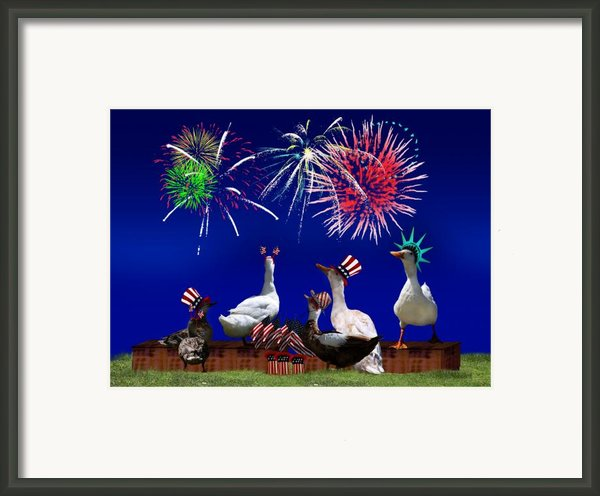 Birds Of A Feather Celebrate Freedom Framed Print By Gravityx Designs