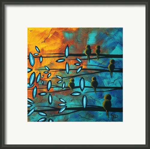 Birds Of Summer By Madart Framed Print By Megan Duncanson